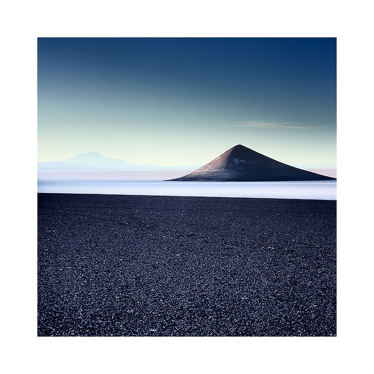 My original shot of the Cono de Arita, shot in 2015. In this view, I'm more interested in trying to give it context. I felt it vital that I show the far off distant volcanoes on the horizon and give the Cono de Arita more salt-flat space.