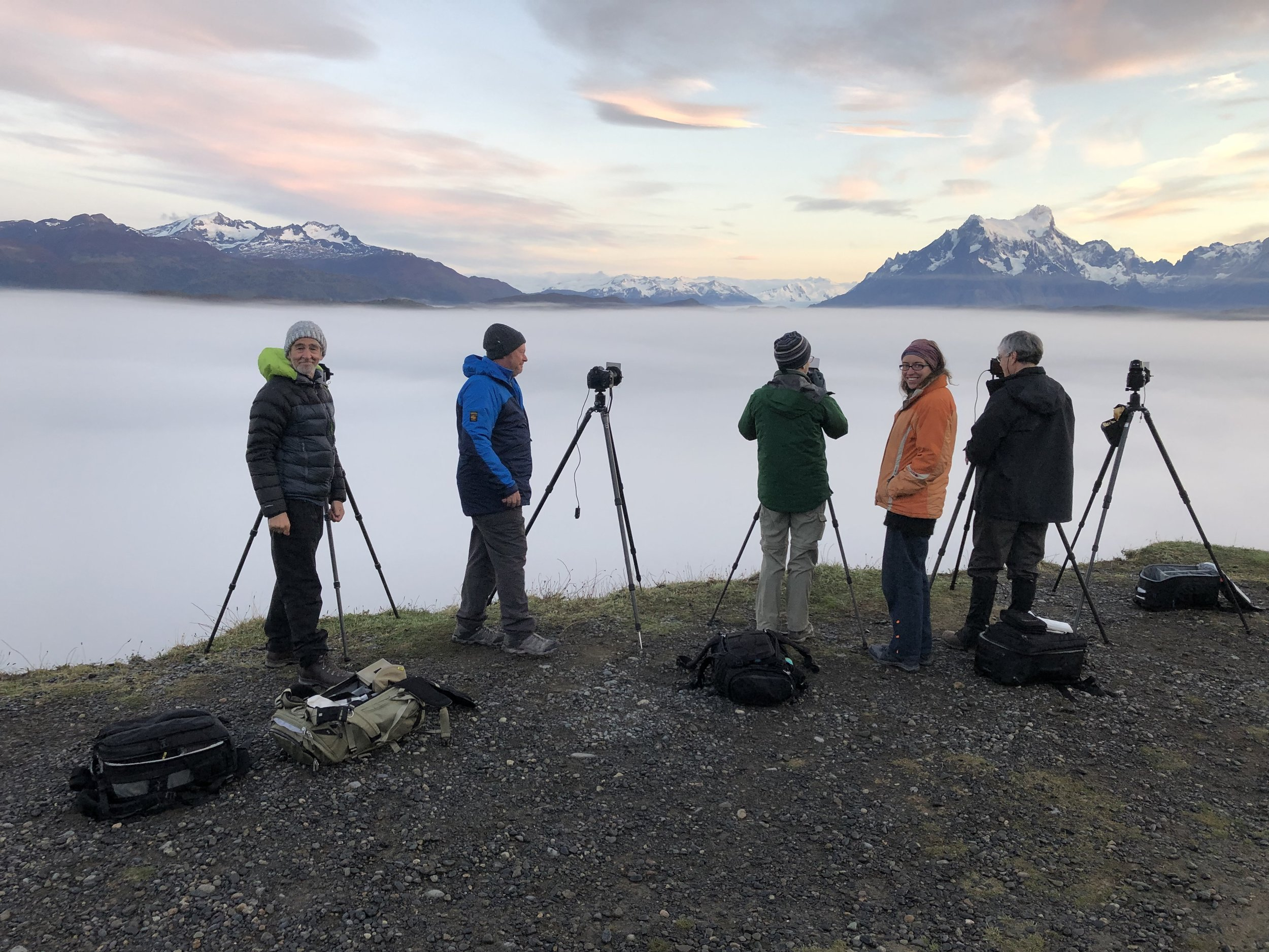 My guide Sabine and some of the group participants from this year's Patagonia tour.