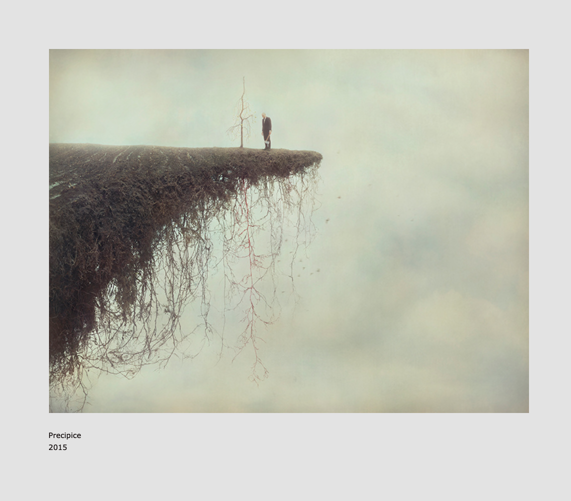 Precipice by Shana & Robert ParkeHarrison. Photographic art work I came across while listening to The Gloaming's beautiful first album.