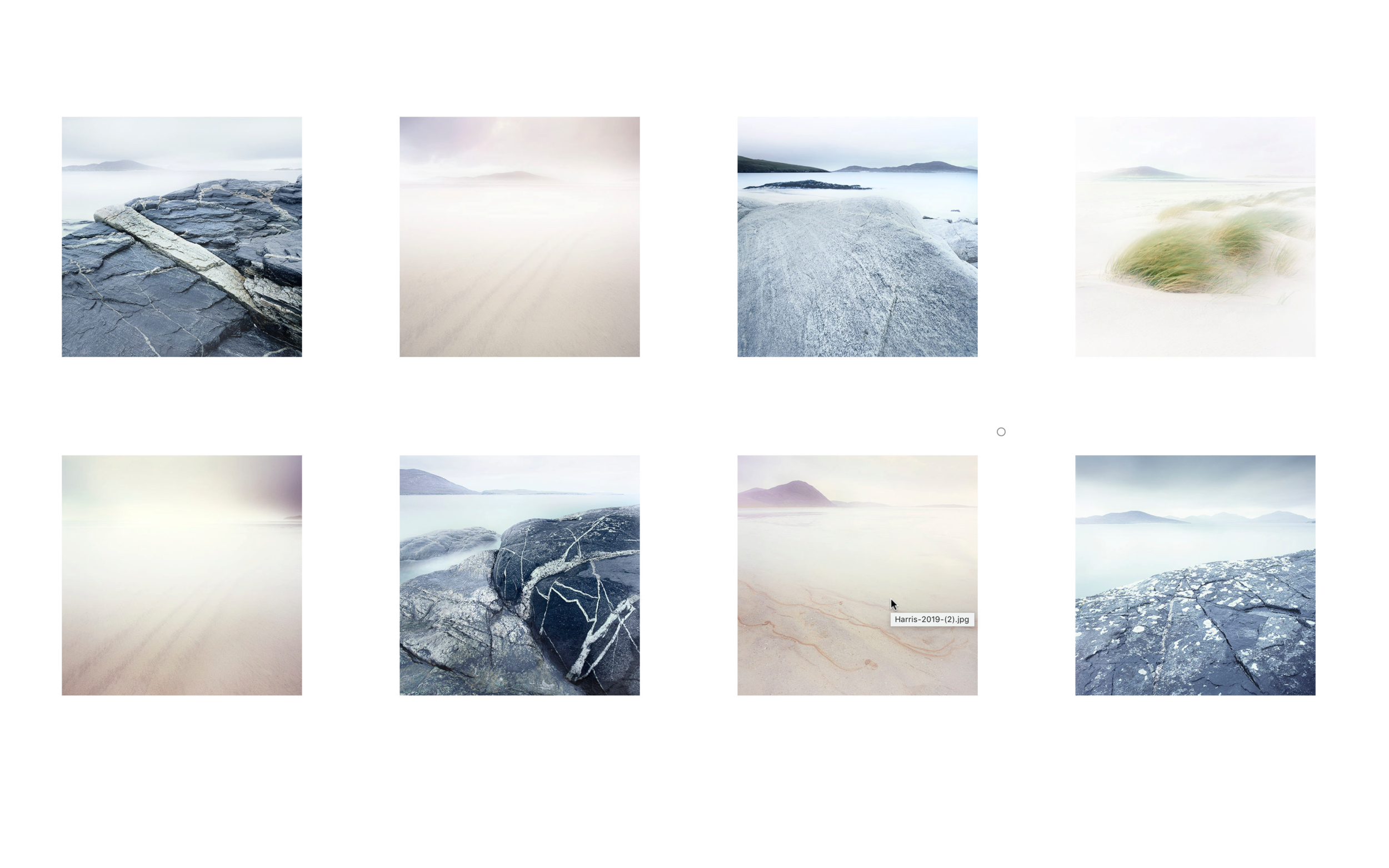 My latest set of Harris images, edited in one day, to try to be as fluid as I could.