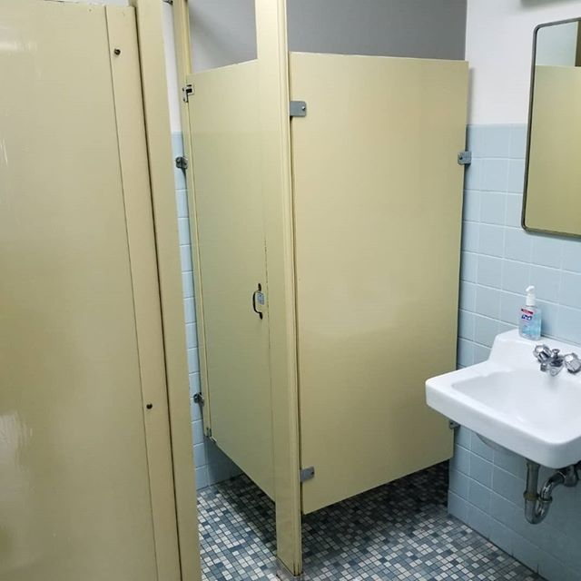 Commercial bathrooms renovated. These bathrooms received a major facelift including converting the larger bathroom to be ADA compliant