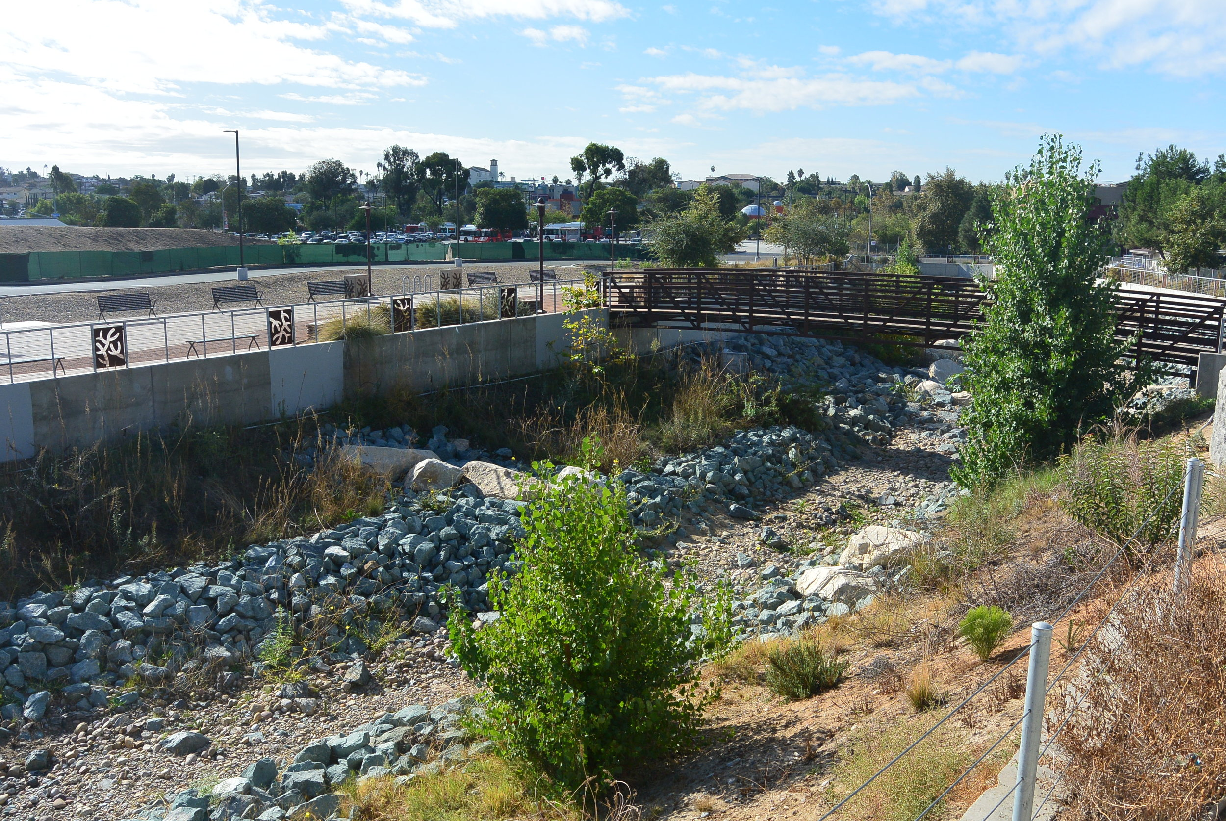 Chollas Creek Restoration Project (Landscape Architecture)  This project brought together the community by creating a gathering space that encourages getting outside and sustainable development.  *Click the image for more information on the project