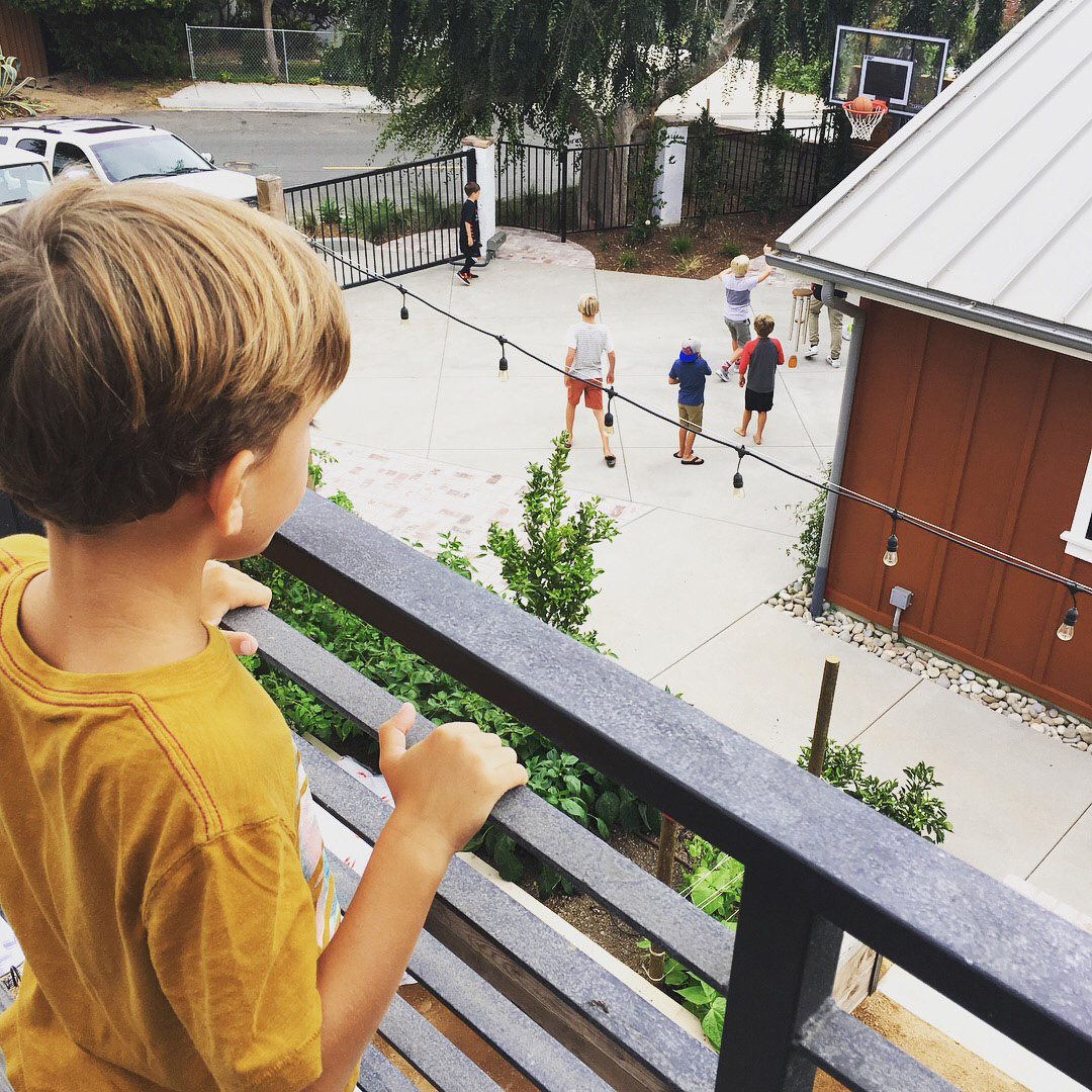 Creating a higher vantage points gives shyer kids the opportunity to be comfortable and tucked away while feeling engaged and part of the fun.