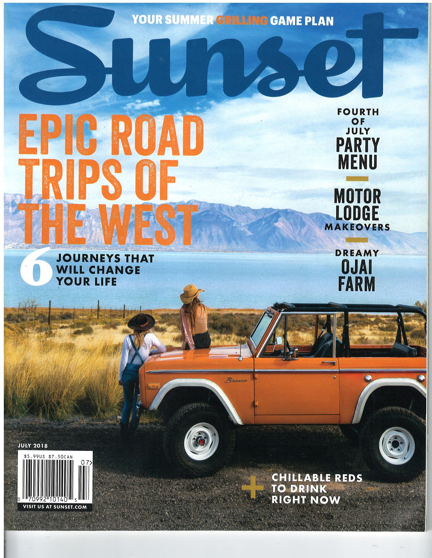 July 2018 Sunset Magazine