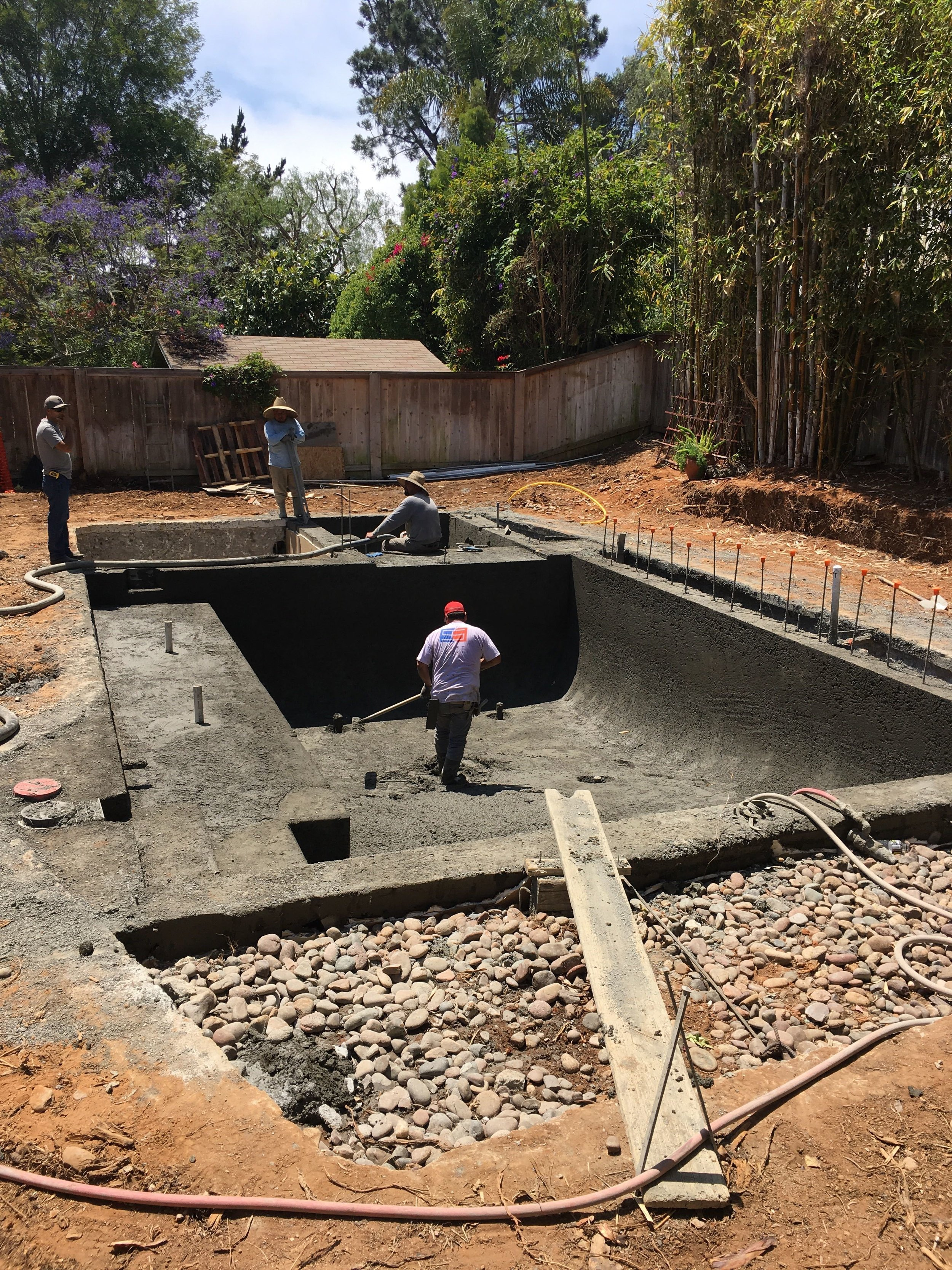Fast forward and you have yourself a new, smaller pool! Next step is tiling and plastering.