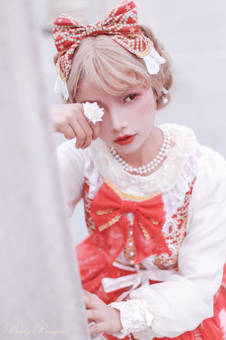 Baby Ponytail Masquerade Ballet Red JSK_谢安然_05.jpg