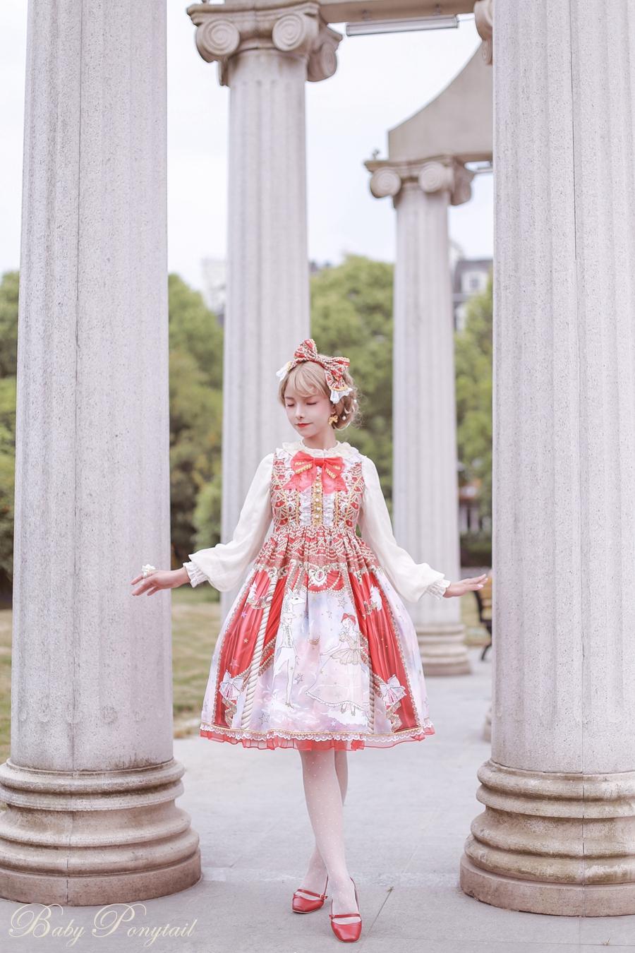Baby Ponytail Masquerade Ballet Red JSK_谢安然_06.jpg