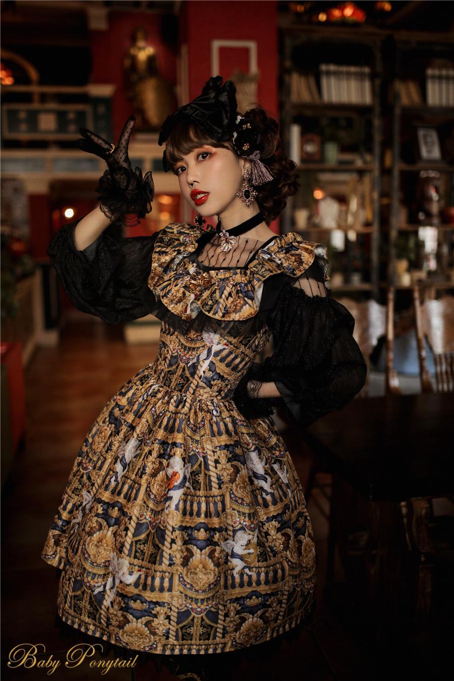 Babyponytail_Model_Ruffle Collar JSK_Black Present Angel_Kaka_0.jpg