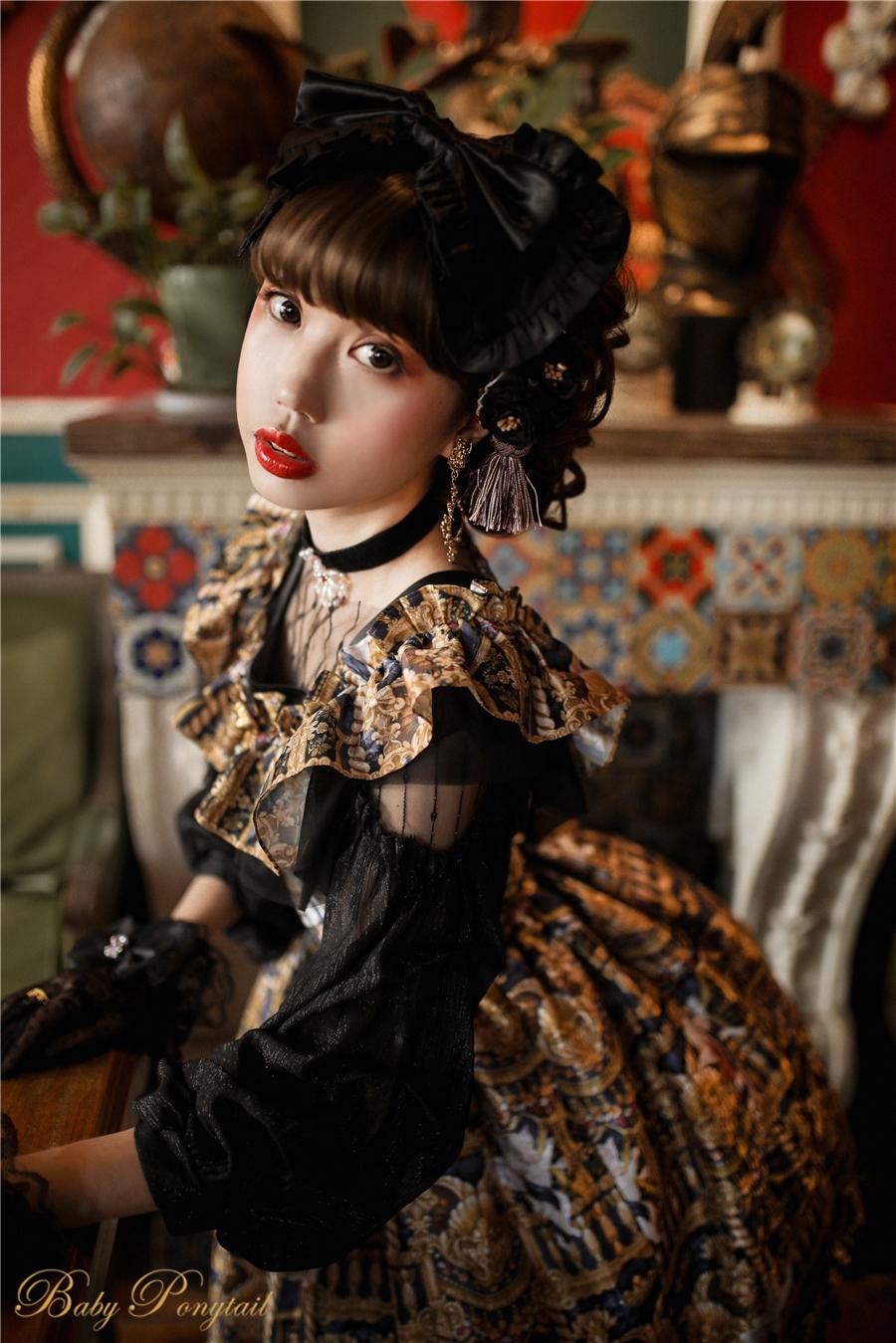 Babyponytail_Model_Ruffle Collar JSK_Black Present Angel_Kaka_16.jpg