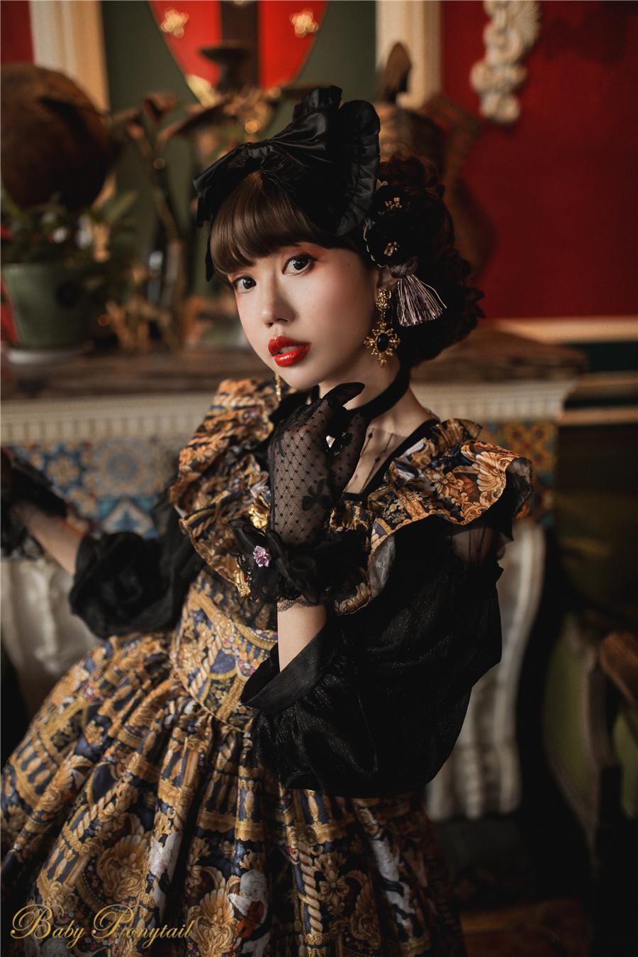 Babyponytail_Model_Ruffle Collar JSK_Black Present Angel_Kaka_17.jpg