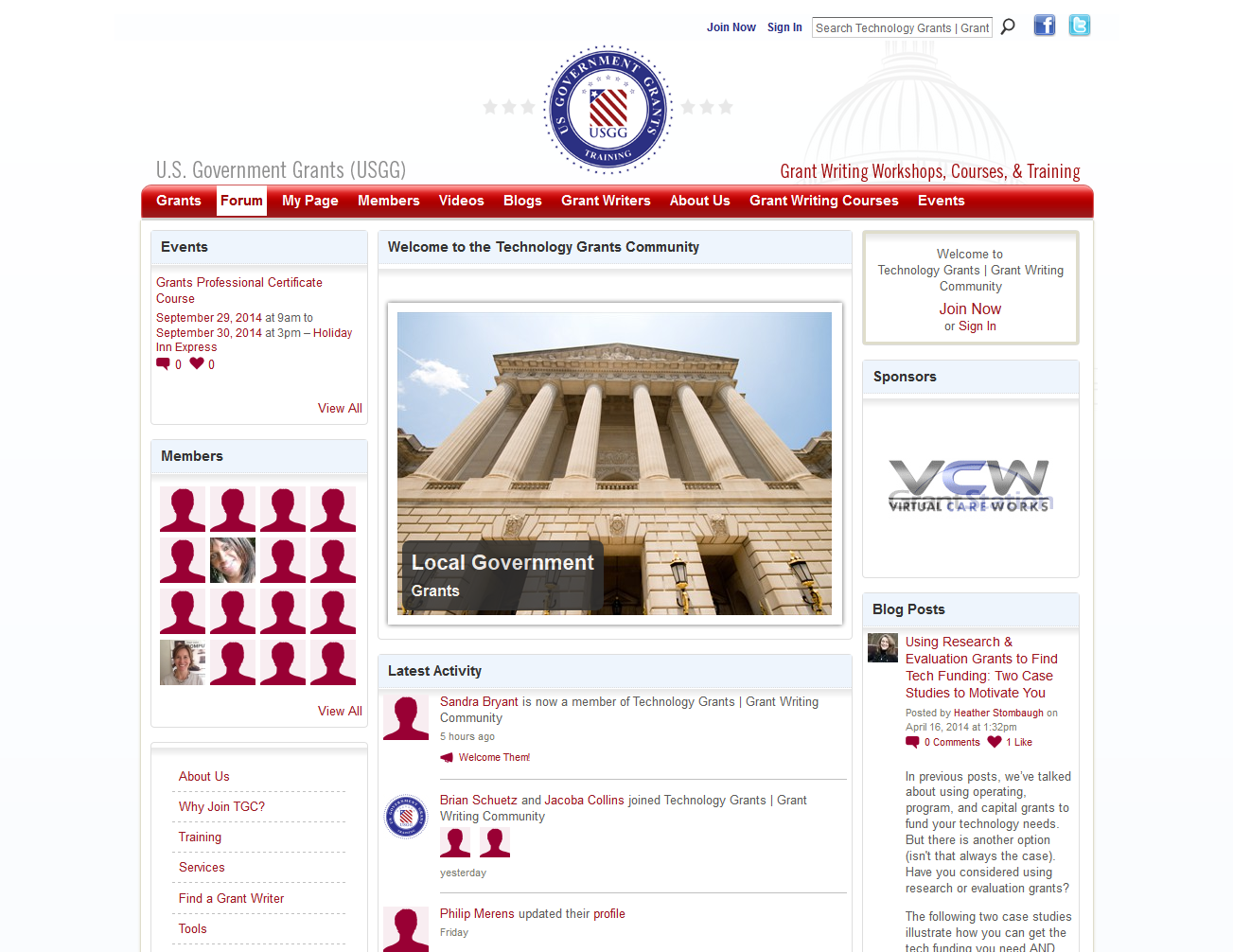 U.S. Government Grants (USGG) - Ning platform