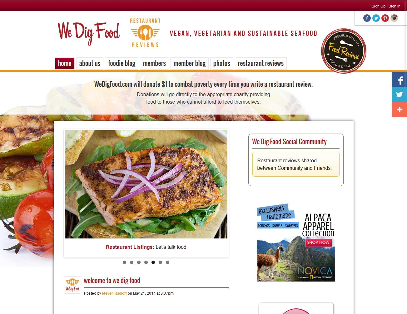 WeDigFood Restaurant Reviews Directory - Ning Platform