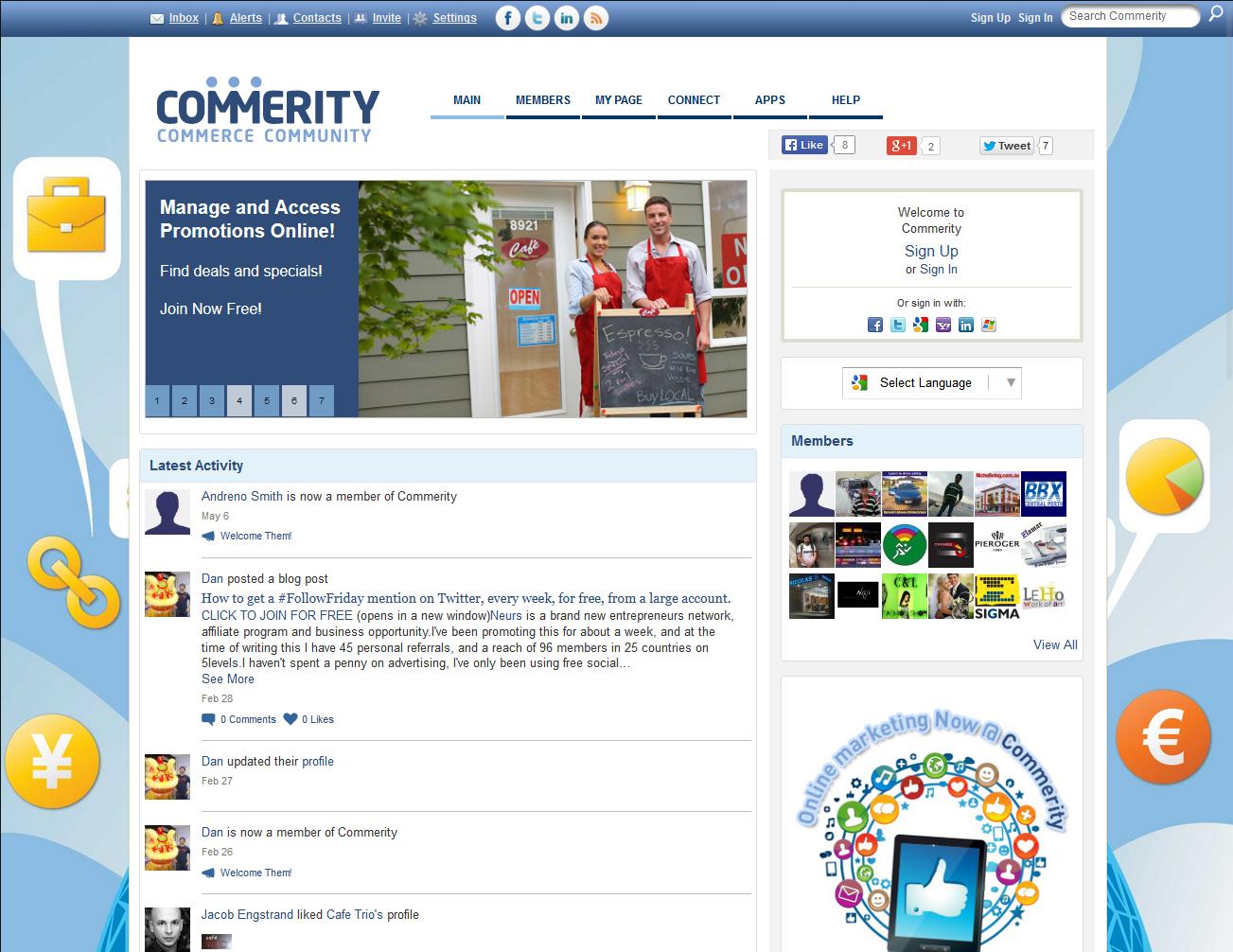 Commerity Commerce - Ning 2.0 Design