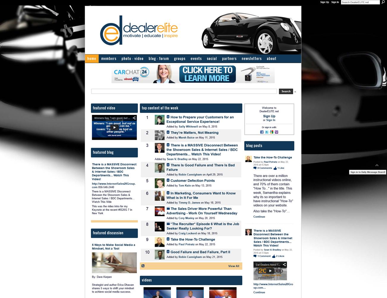 DealerElite - Ning 2.0 Facelift