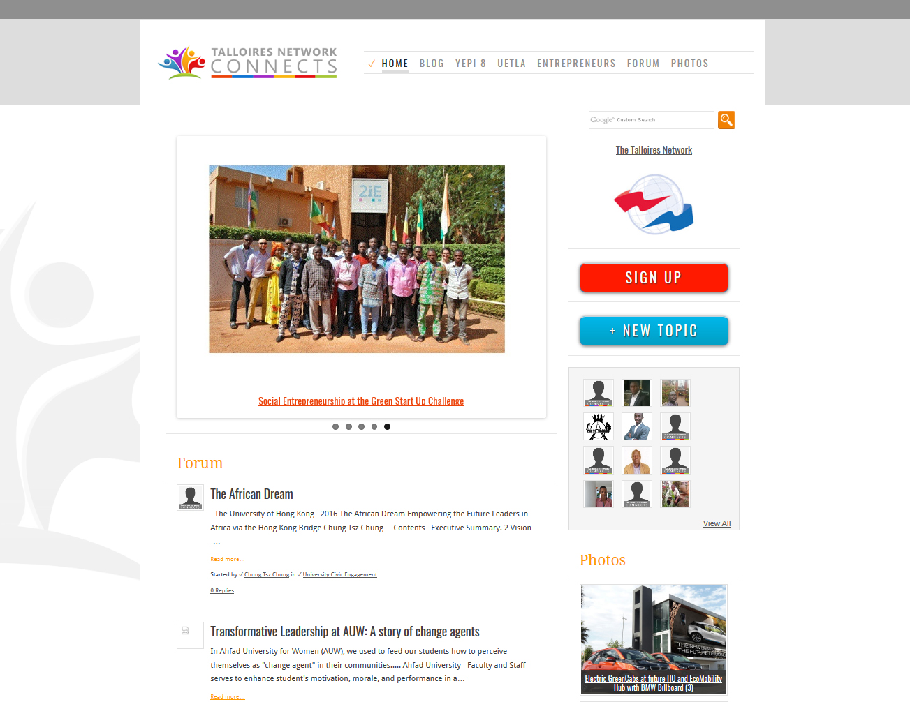 Talloires Network (TUFTS University) - Ning platform 3.0