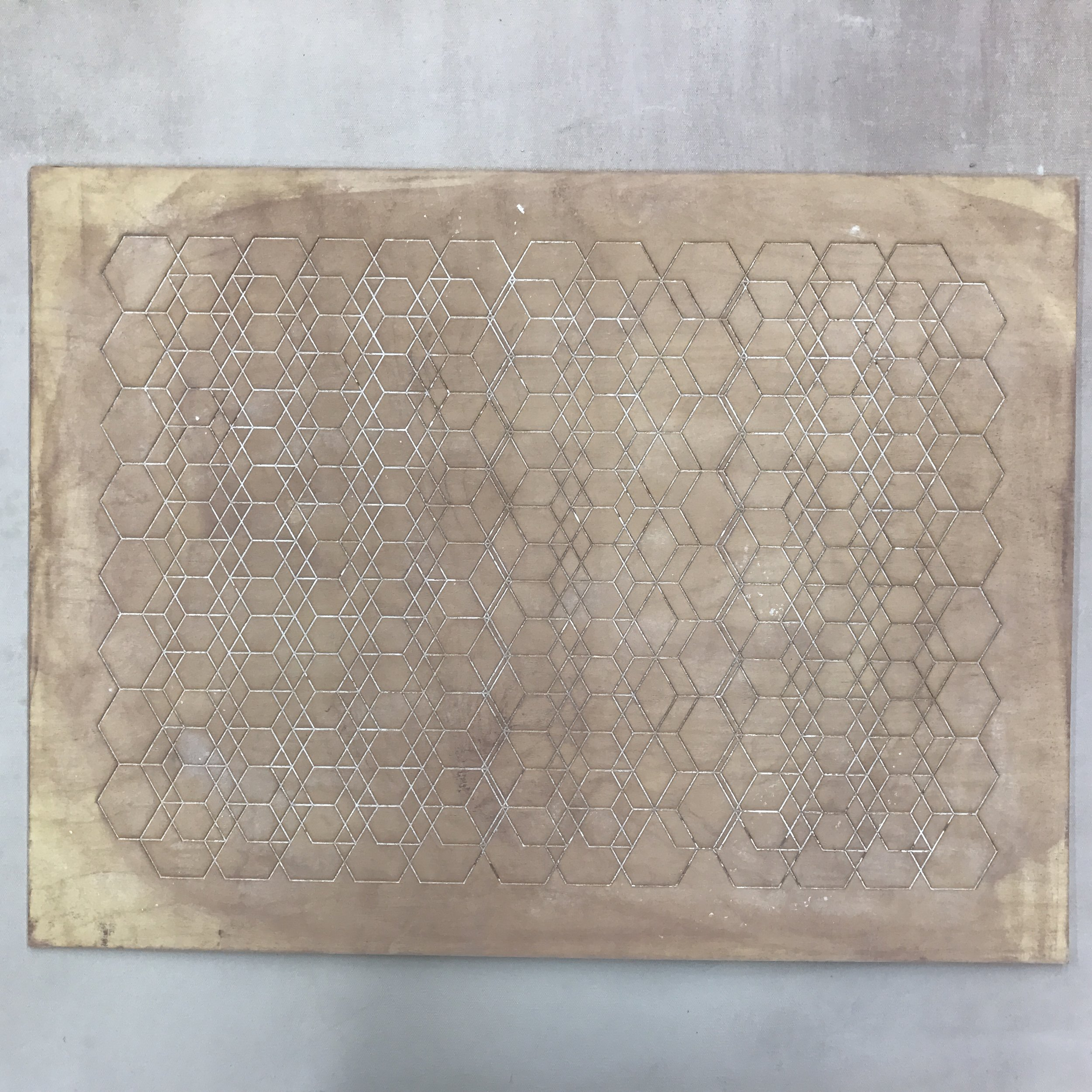 Laser etched wood as a press mold