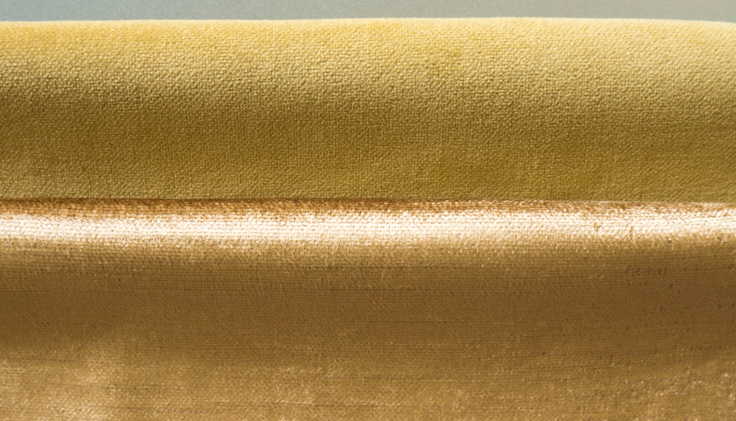 Notice the difference in surface sheen of these velveteens. The one above is cotton fiber and the below is rayon.
