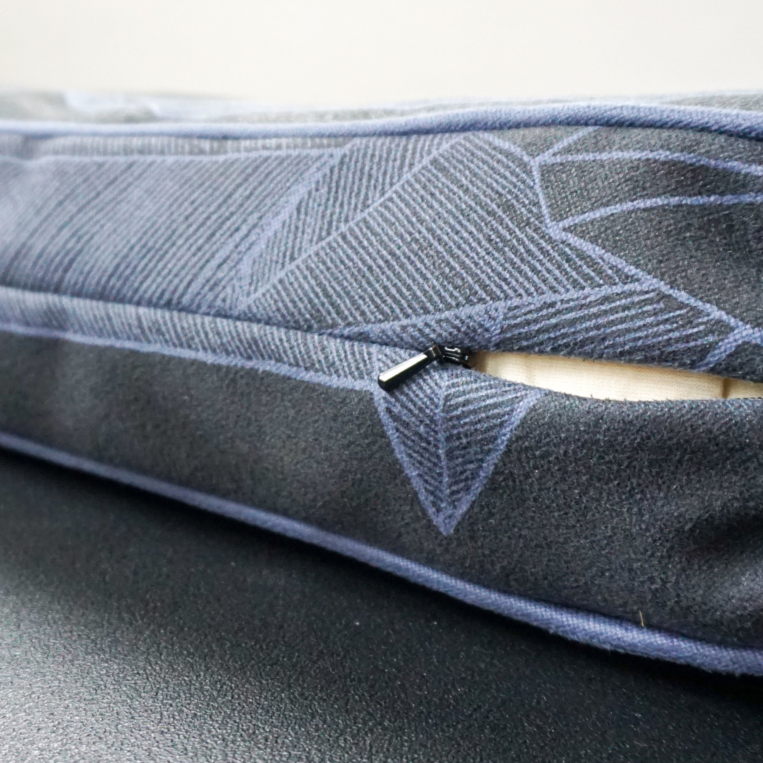 Little things like an invisible zipper keep our Lucky Dog Beds lookin' sleek!  Click the photo above to check them out.