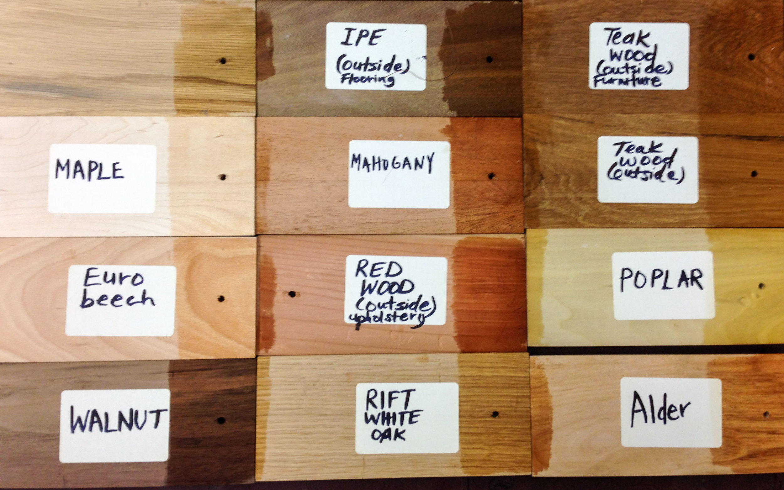 No need for any stains since our custom frames are offered in many hardwoods.  Click through and learn more about our Custom Services.