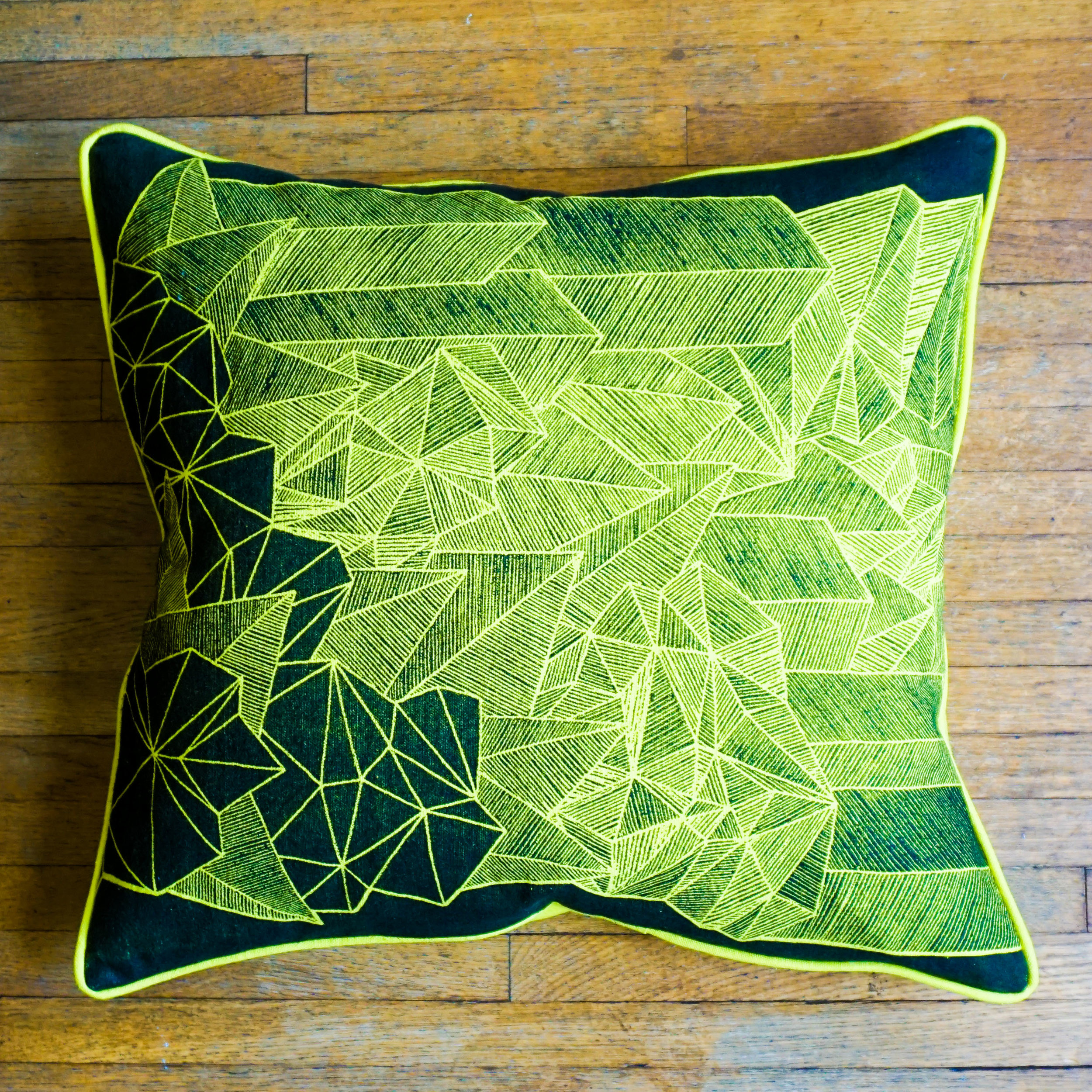 Downtown Sprawl Pillow is filled with kapok seed fiber.  Click above to check it out further!