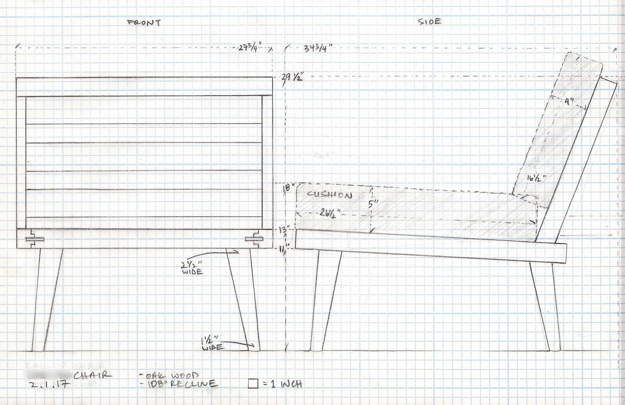 My scale drawing for the frame builder to follow.