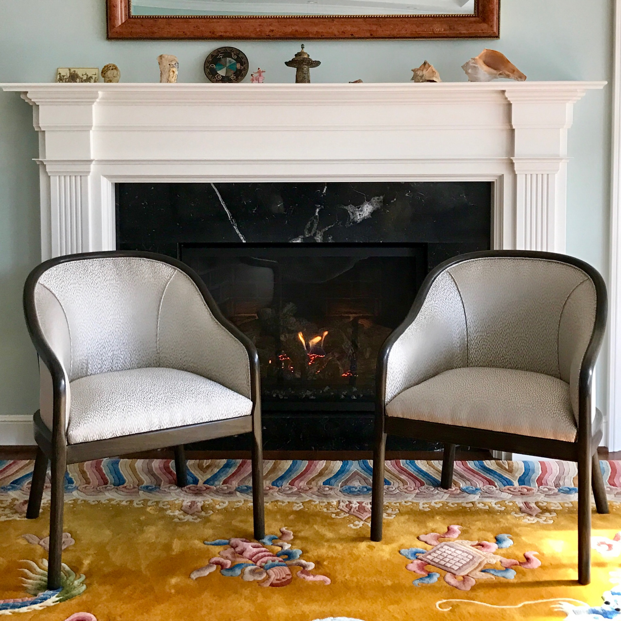 This custom pair are actually fully restored vintage chairs.