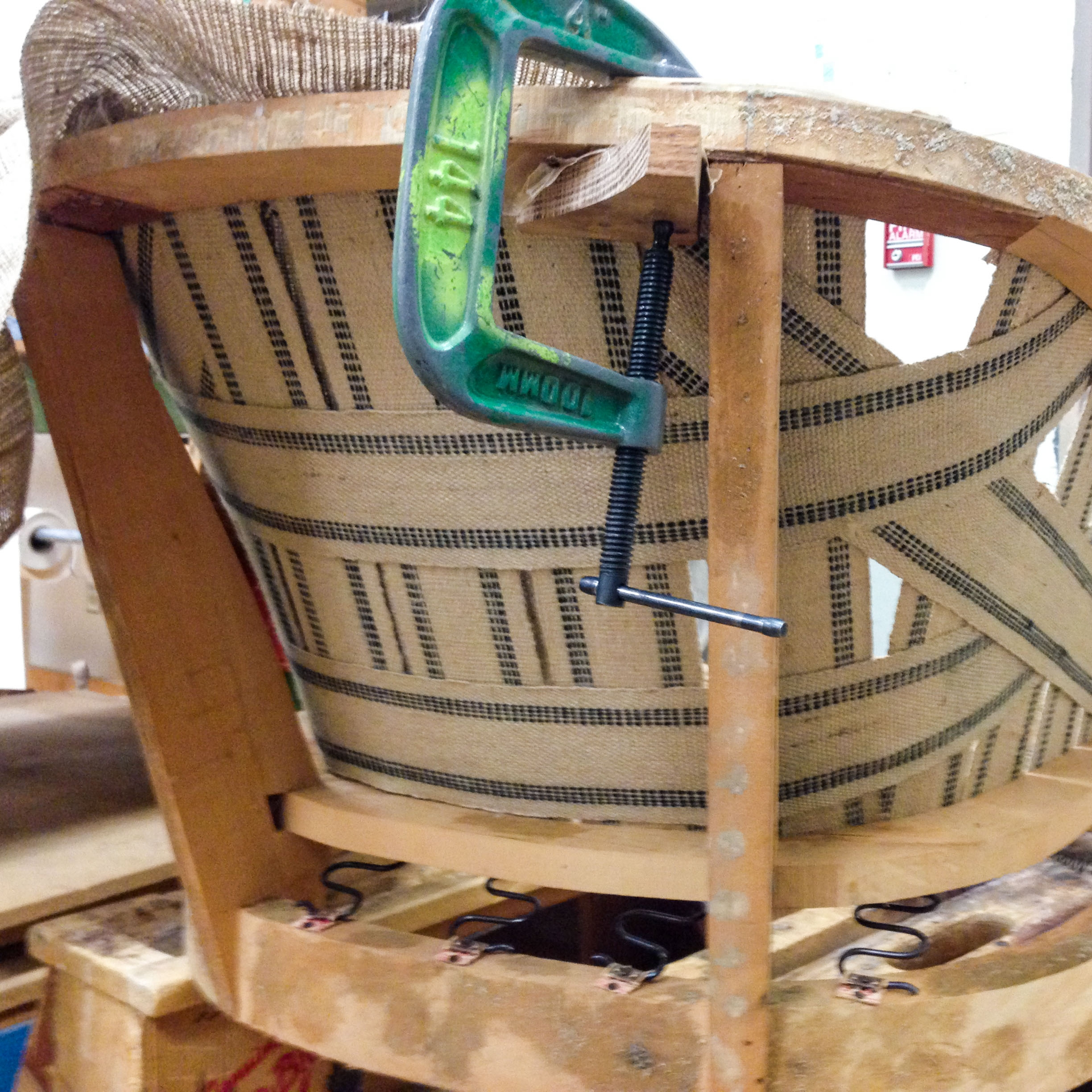 The Chair Restoration Process: Part One, The Frame - Strip and repair the wood, then refinish the wood.