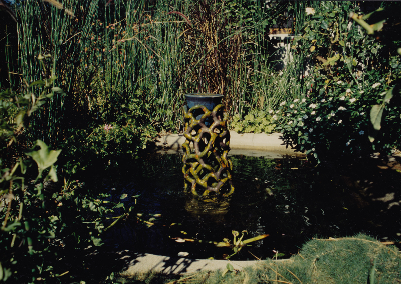Ceramic fountain, 1992, private residence, Los Angeles CA