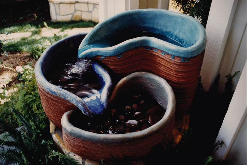 Ceramic fountain, 1996, private residence, Westlake Village CA