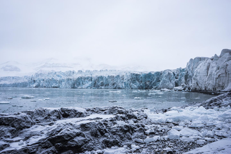 Sveabreen Glacier: 78˚33, 1 N, 014˚20, 2 E, 2015