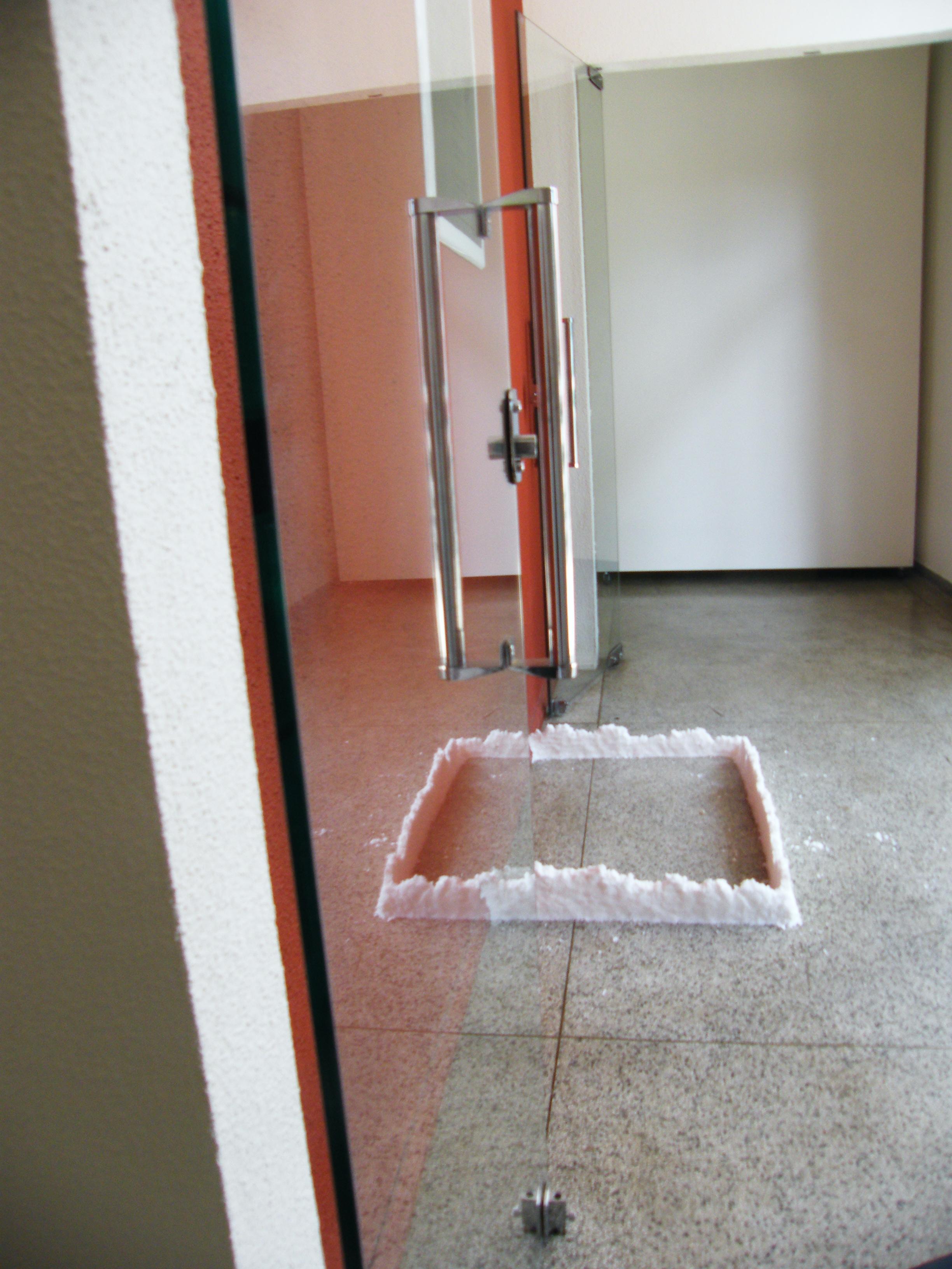 detalhe: reflexo no hall de entrada