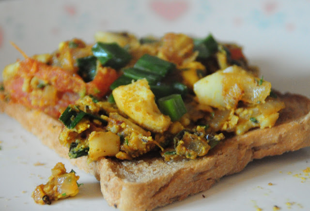 8. Serve on a whole wheat toast. Its perfectly spiced.