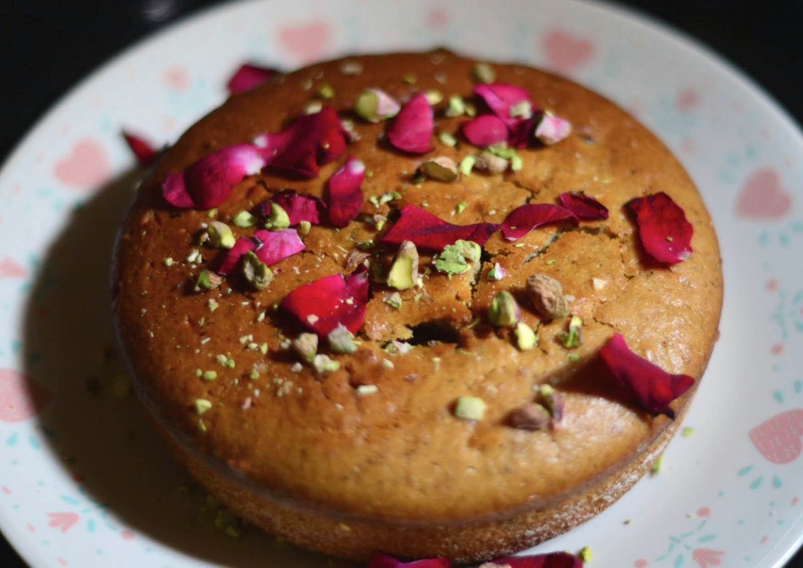 Gorgeous rose and thandai cake- for the gods