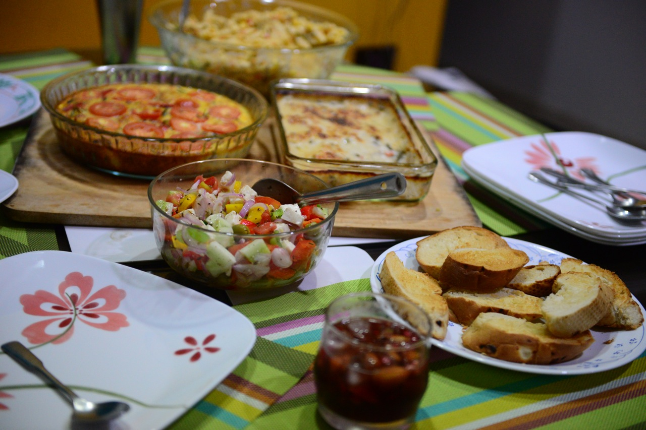 Serve with other interesting items such as garlic bread, salad, sangria etc.