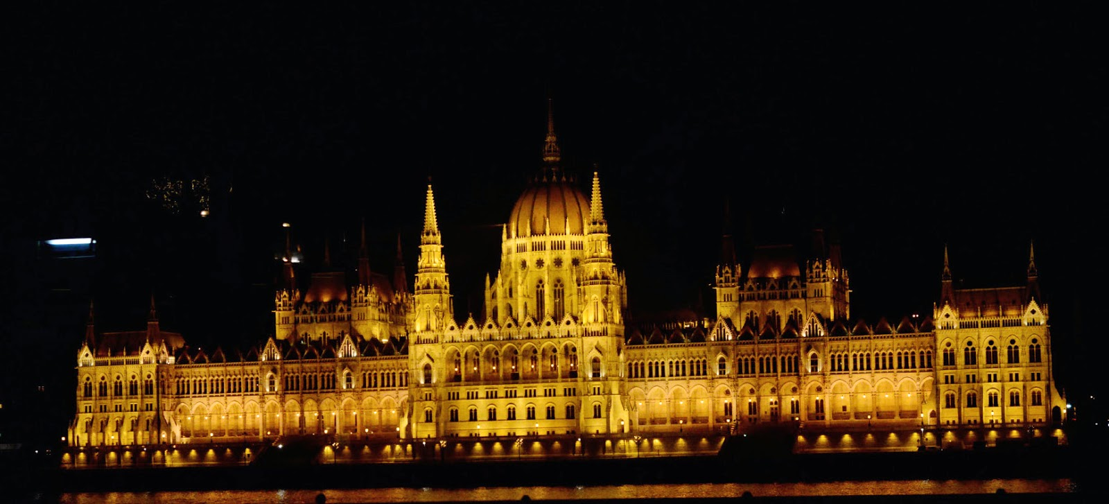 The stunning Hungarian Parliament from across the Danube