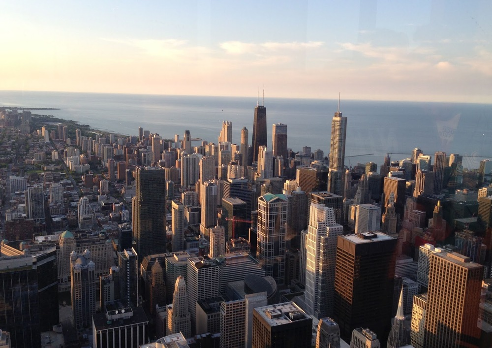 From top of the Sear Tower. Love Chicago
