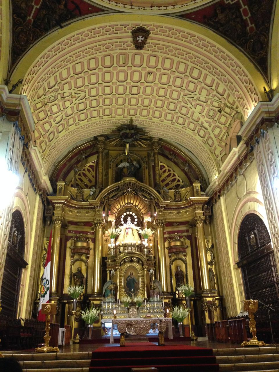 Gorgeous interiors of the cathedral San Francisco