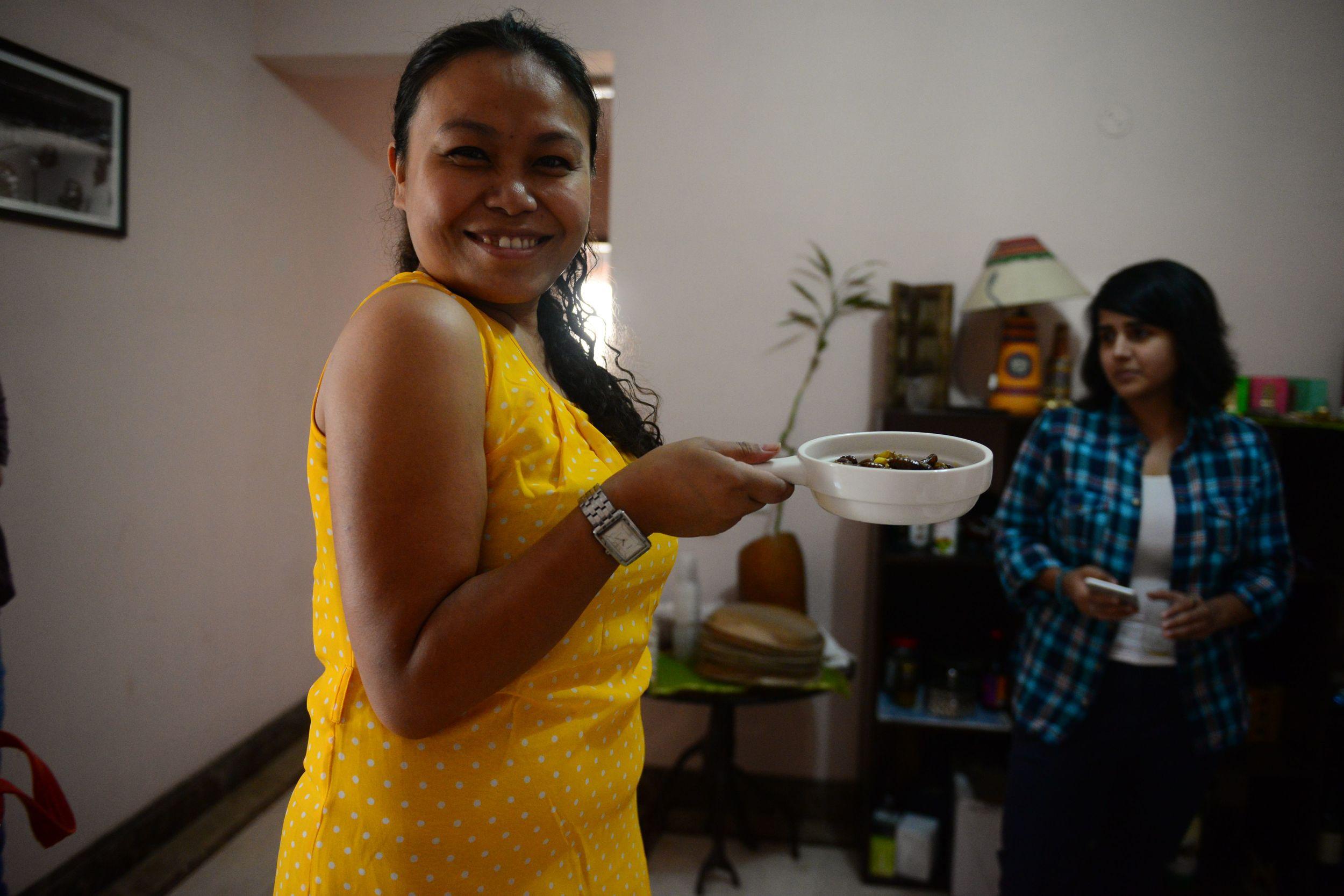 Our super enthusiastic host who made it all worth it- Gitika Saikia
