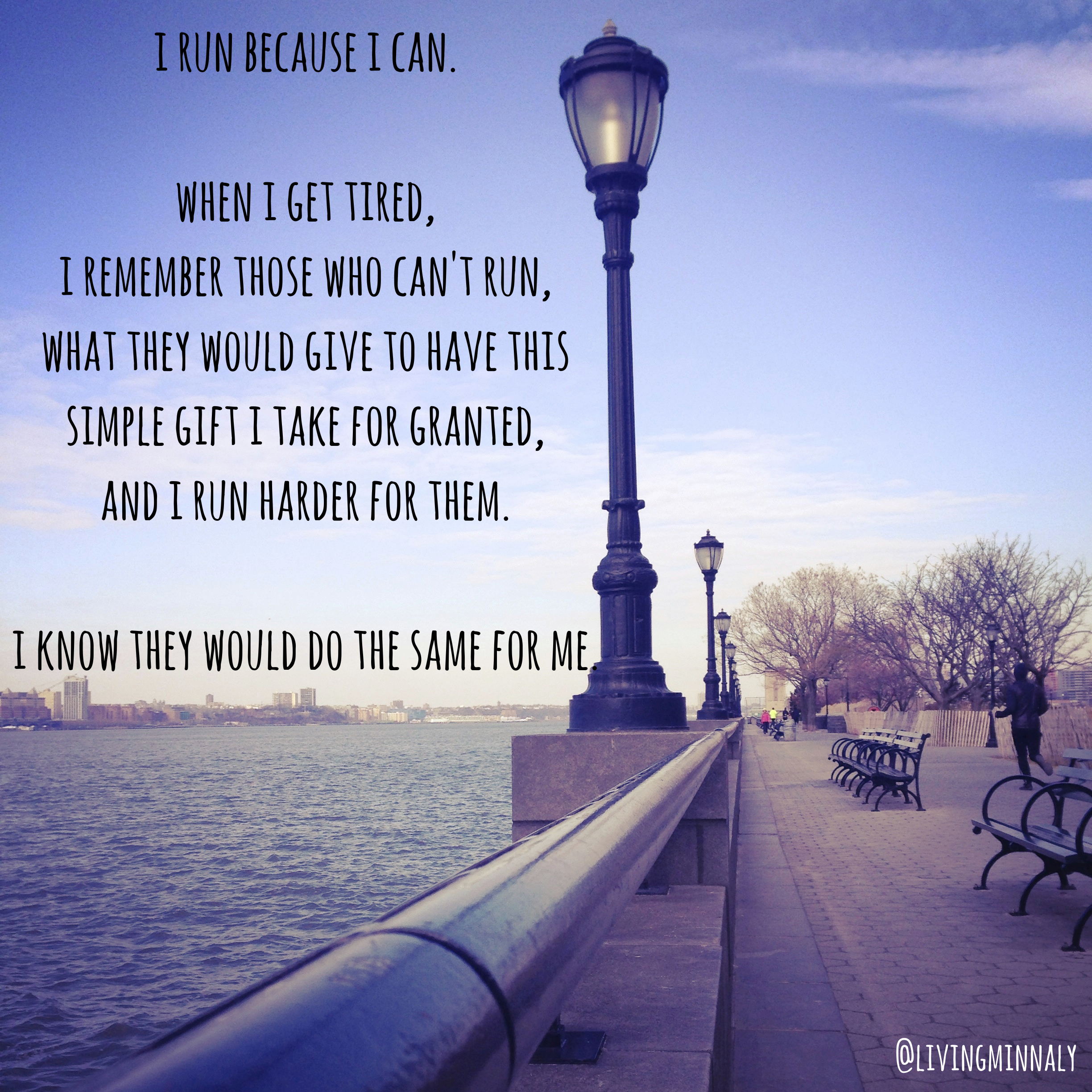 Run because you can | Living Minnaly