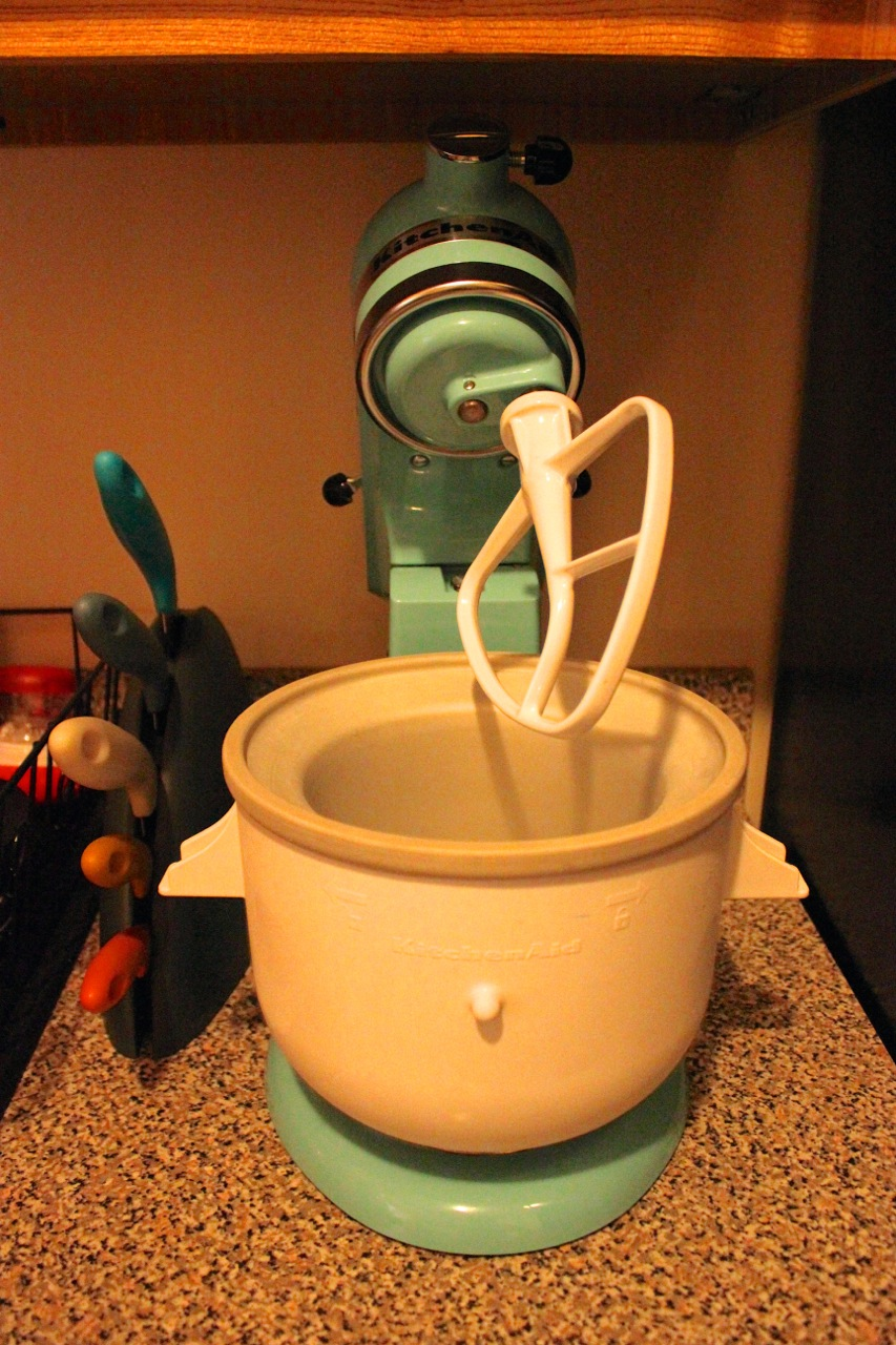 My little Martha Stewart's stand mixer