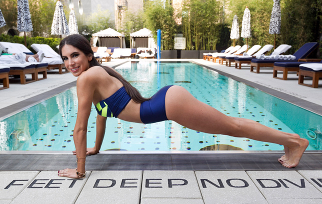 Photo cred:  Men's Health.   That plank... ahem deep lumbar lordosis/anterior pelvic tilt is what makes that booty pop. Not this form on a plank.
