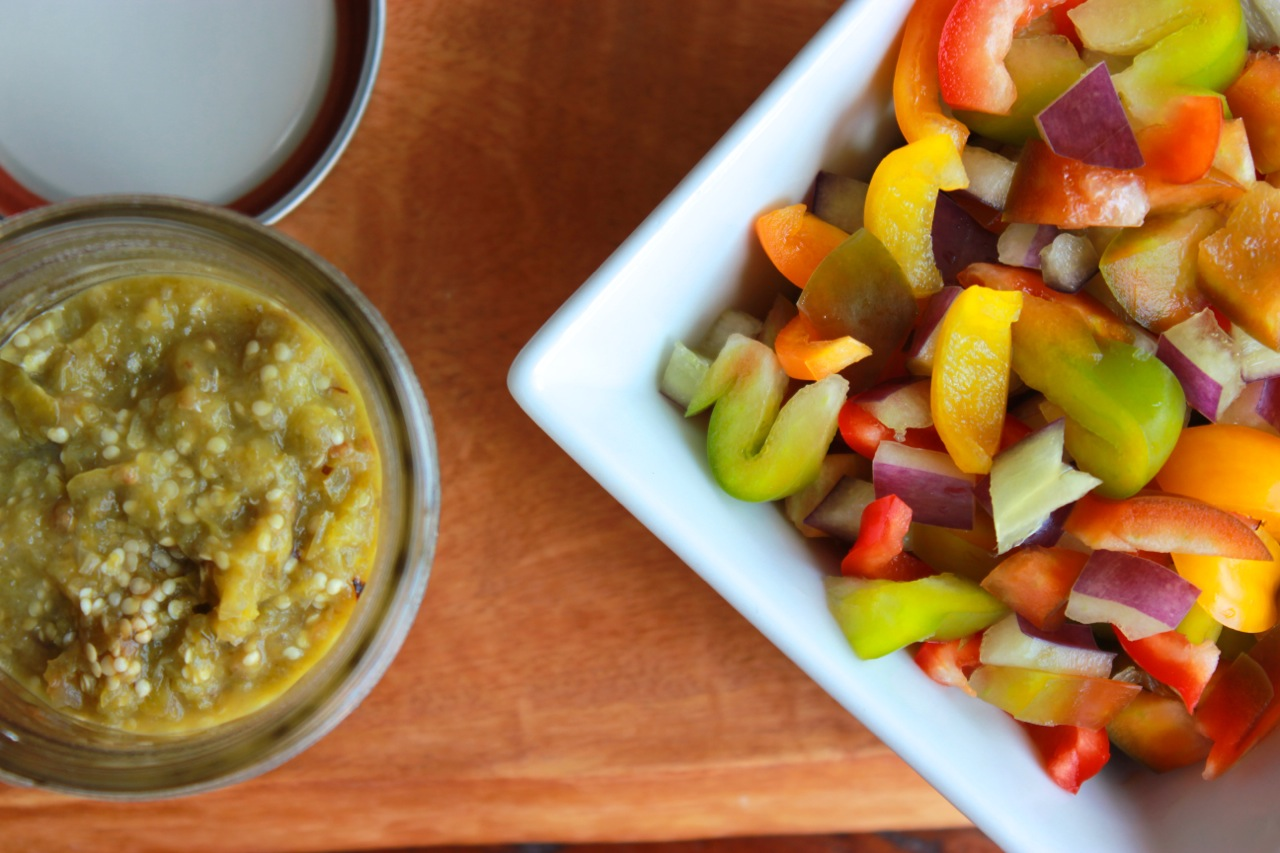 Lentil Black Bean Bell Pepper Salad w:Tomatillo Sauce | Living Minnaly07.jpg