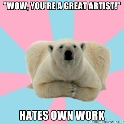 Perfectionist Polar Bear . Das me.
