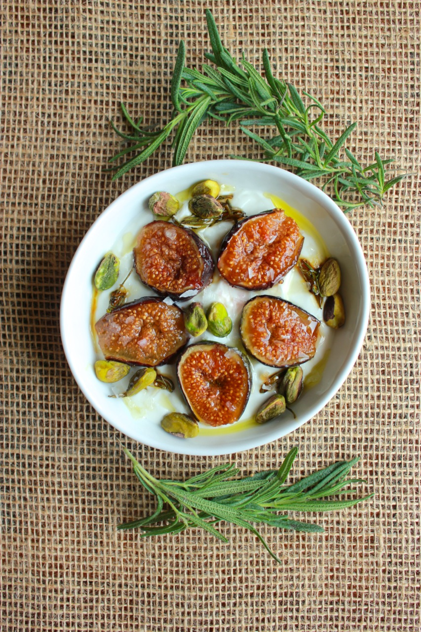 Yogurt w:Caramelized Figs & Pistachios | Living Minnaly4.jpg