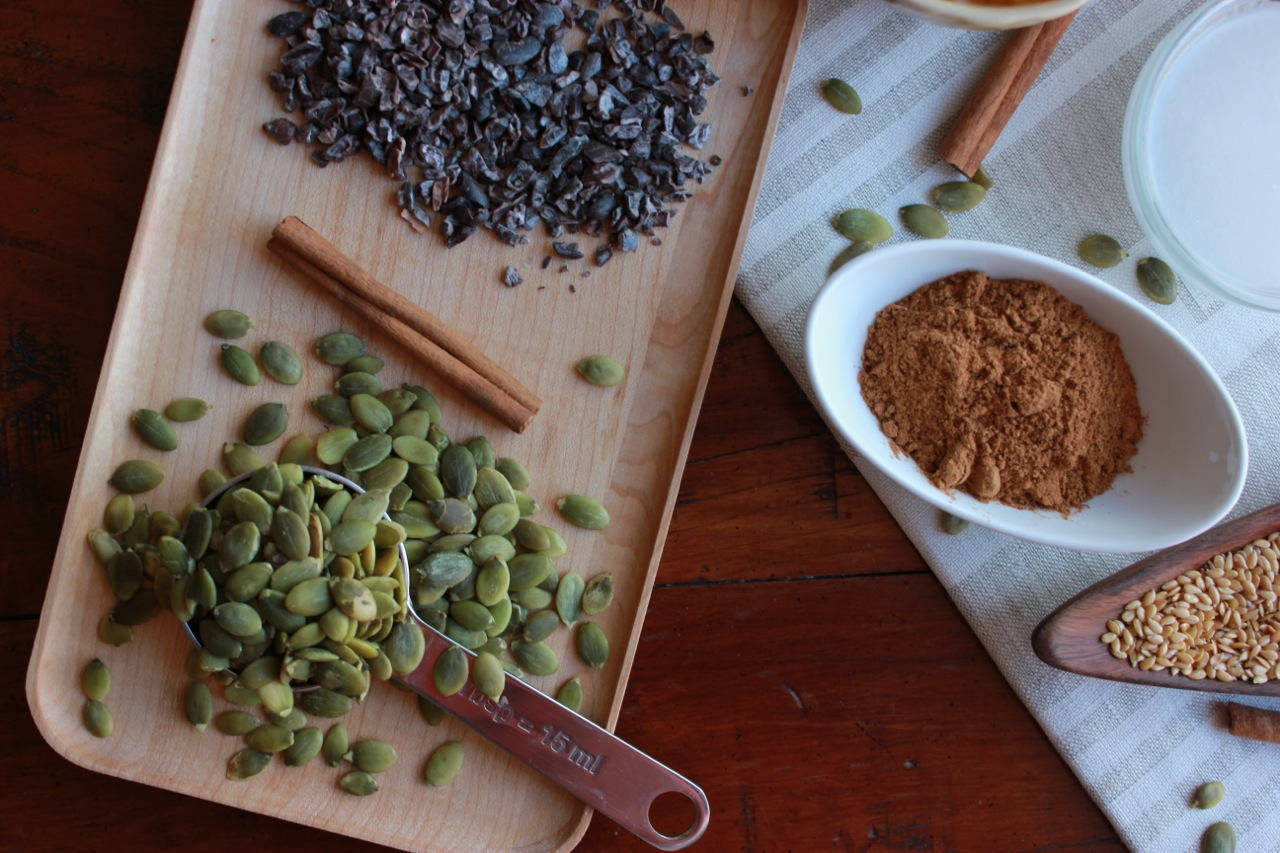 Never say no to cacao nibs and pepitas.