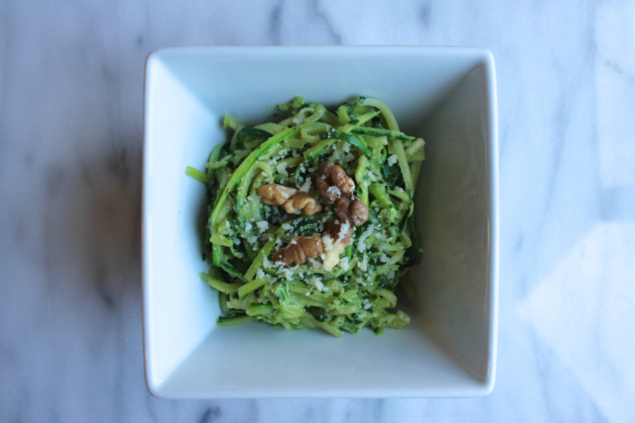 Zucchini Pasta with Kale Walnut Pesto | Living Minnaly08.jpg