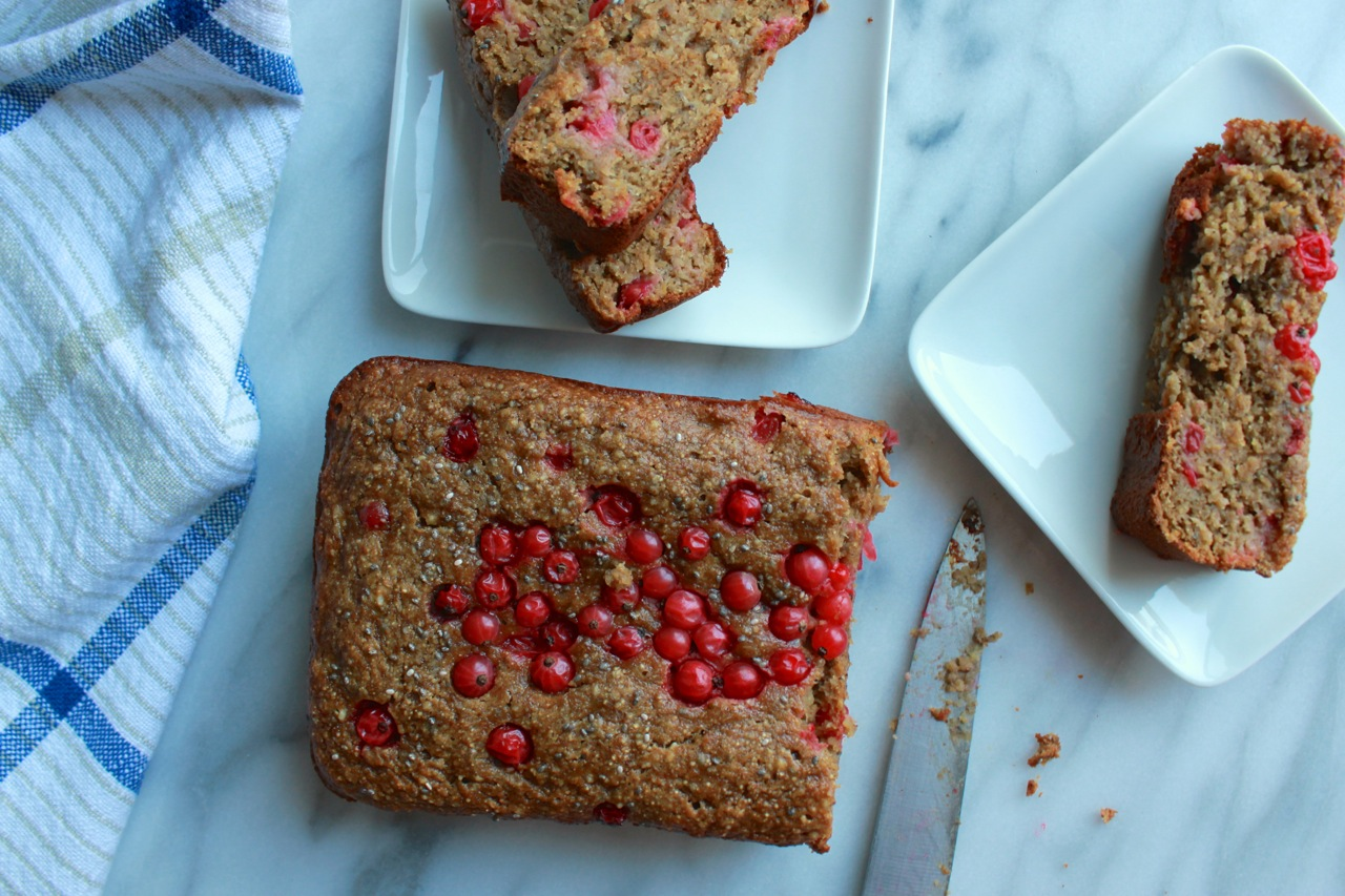 Currant Chia Almond Butter Banana Bread | Living Minnaly