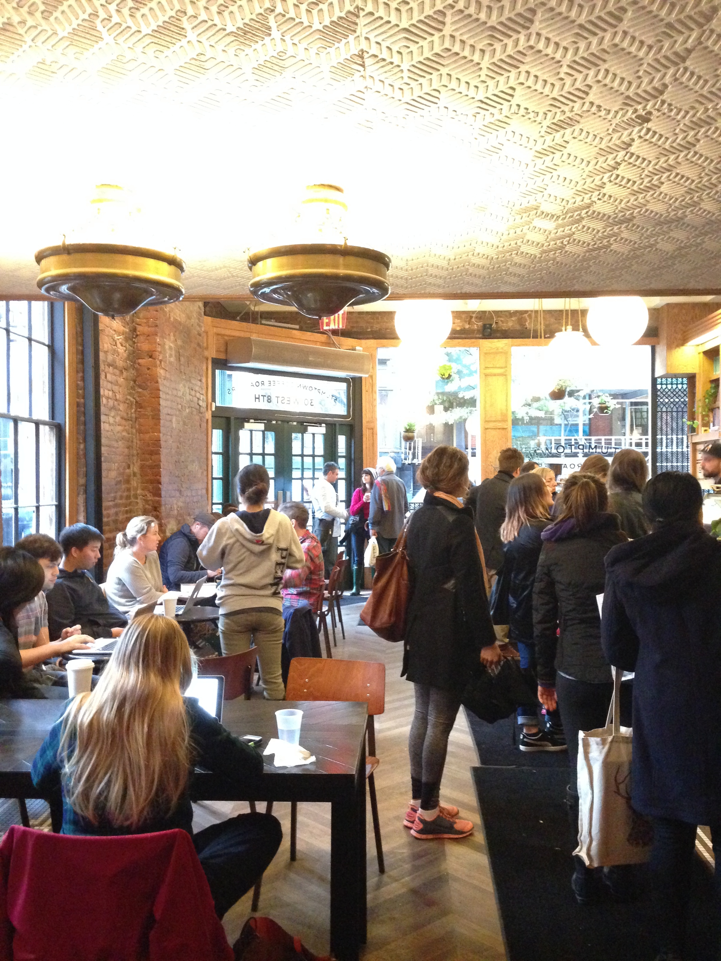 Crowded.. To be fair, it was $1 brew coffees for National Coffee Day