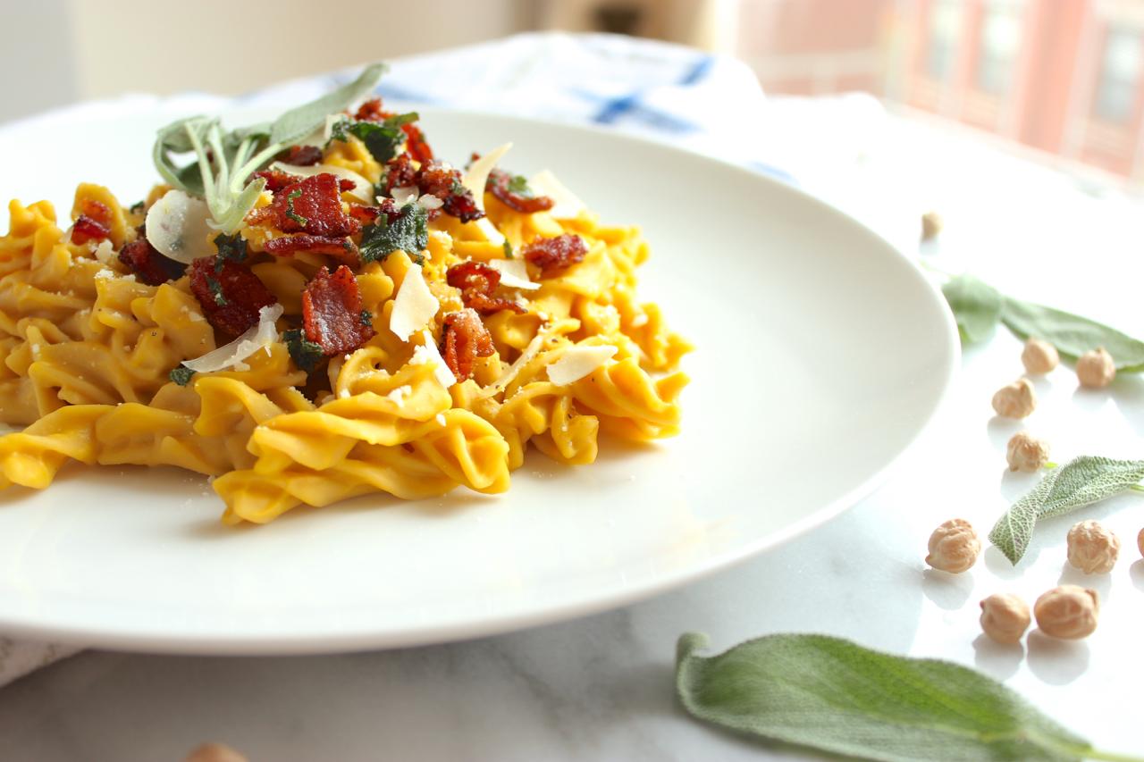 Butternut Squash Carbonara w/Sage-Maple Bacon 9   Living Minnaly