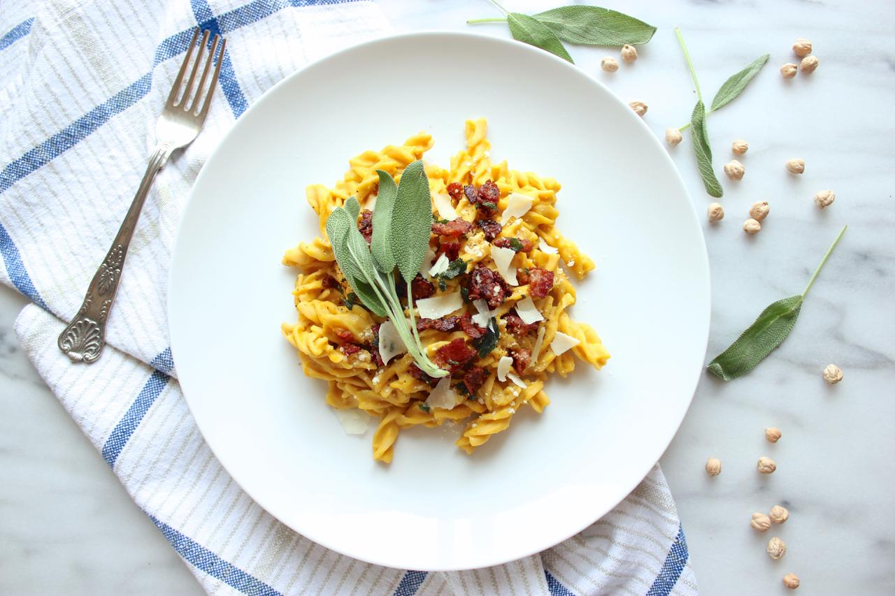Butternut Squash Carbonara w/Sage-Maple Bacon 8  Living Minnaly